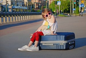 kids, vacation, suitcase